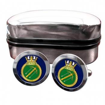 HMCS Hunter Round Cufflinks