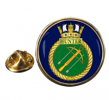 HMCS Hunter Round Pin Badge