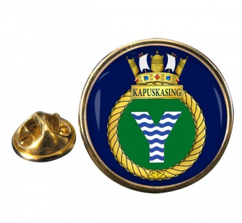 HMCS Kapuskasing Round Pin Badge