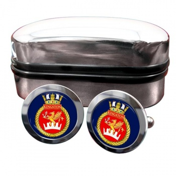 HMCS Kingston Round Cufflinks