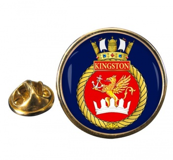 HMCS Kingston Round Pin Badge