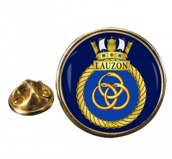 HMCS Lauzon Round Pin Badge