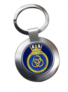 HMCS Lauzon Chrome Key Ring