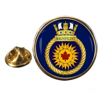 HMCS Magnificent Round Pin Badge