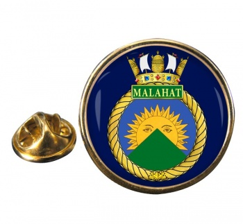 HMCS Malahat Round Pin Badge
