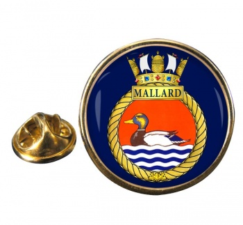 HMCS Mallard Round Pin Badge