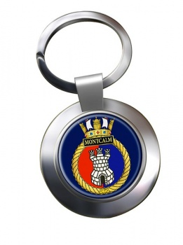 HMCS Montcalm Chrome Key Ring