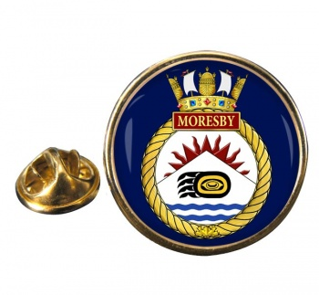 HMCS Moresby Round Pin Badge