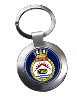 HMCS Moresby Chrome Key Ring