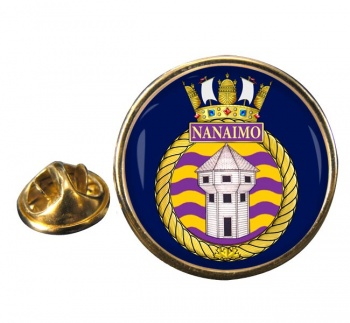 HMCS Nanaimo Round Pin Badge