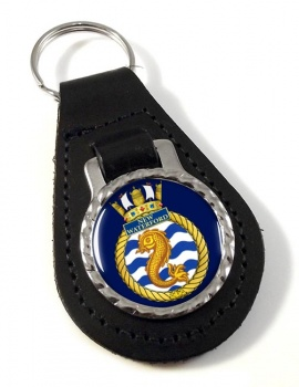 HMCS New Waterford Leather Key Fob
