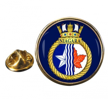 HMCS Niagara Round Pin Badge