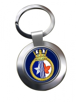 HMCS Niagara Chrome Key Ring