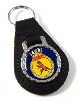 HMCS Nonsuch Leather Key Fob