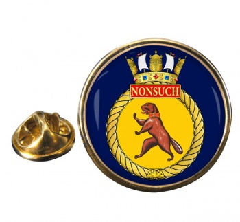 HMCS Nonsuch Round Pin Badge