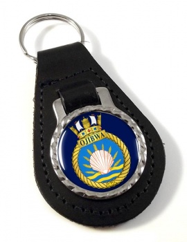 HMCS Ojibwa Leather Key Fob