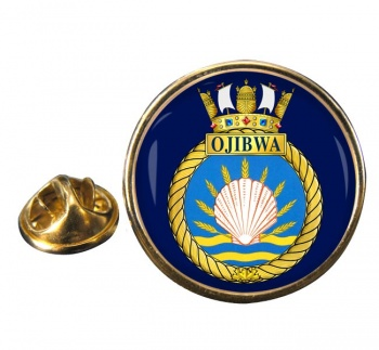HMCS Ojibwa Round Pin Badge