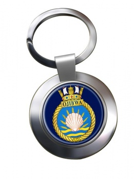 HMCS Ojibwa Chrome Key Ring