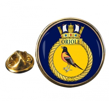 HMCS Oriole Round Pin Badge