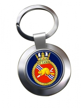 HMCS Ottawa Chrome Key Ring