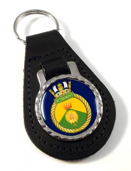 HMCS Outremont Leather Key Fob