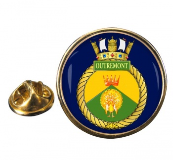HMCS Outremont Round Pin Badge