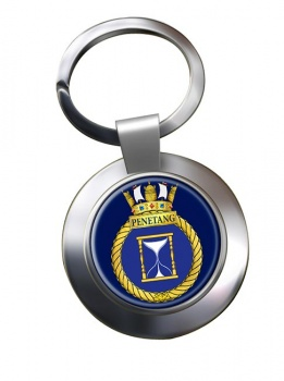 HMCS Penetang Chrome Key Ring