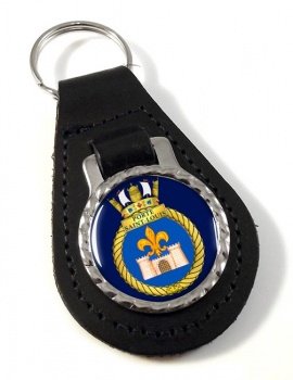 HMCS Porte Saint-Louis Leather Key Fob
