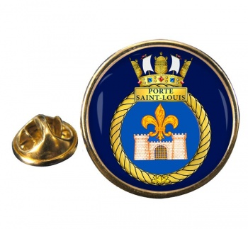 HMCS Porte Saint-Louis Round Pin Badge