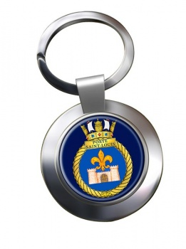 HMCS Porte Saint-Louis Chrome Key Ring