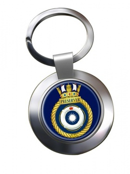 HMCS Preserver Chrome Key Ring