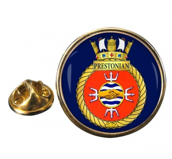 HMCS Prestonian Round Pin Badge