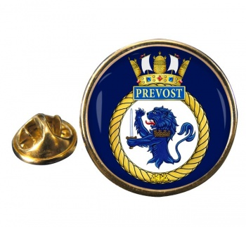 HMCS Prevost Round Pin Badge