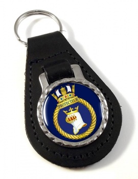 HMCS Protecteur Leather Key Fob
