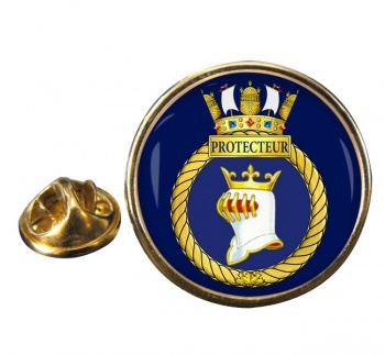 HMCS Protecteur Round Pin Badge