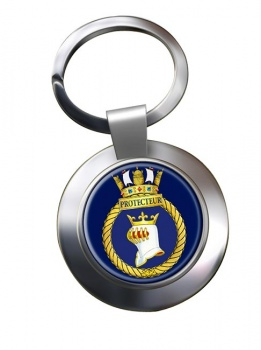 HMCS Protecteur Chrome Key Ring