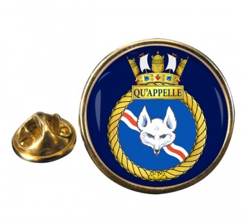HMCS Qu'Appelle Round Pin Badge