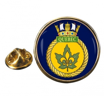 HMCS Quebec Round Pin Badge