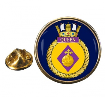 HMCS Queen Round Pin Badge