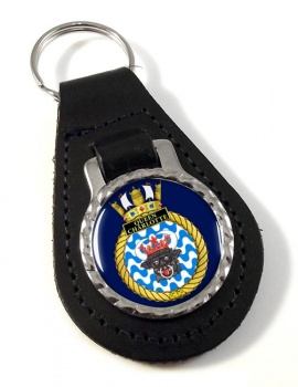 HMCS Queen Charlotte Leather Key Fob