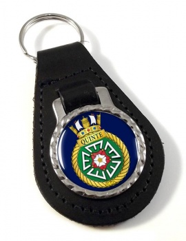 HMCS Quinte Leather Key Fob