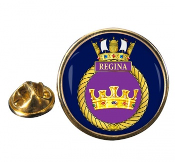 HMCS Regina Round Pin Badge