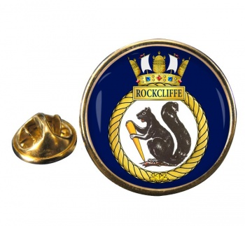 HMCS Rockcliffe Round Pin Badge