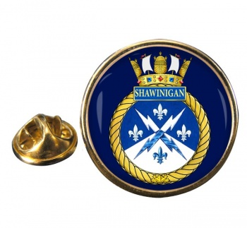 HMCS Shawinigan Round Pin Badge