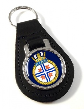 HMCS St. Croix Leather Key Fob