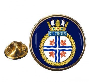 HMCS St. Croix Round Pin Badge