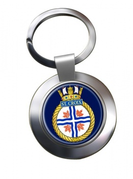 HMCS St. Croix Chrome Key Ring