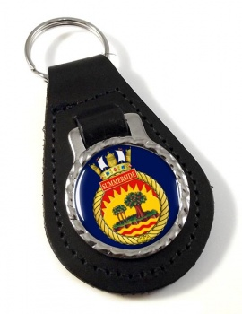 HMCS Summerside Leather Key Fob