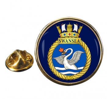HMCS Swansea Round Pin Badge