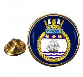 HMCS Vancouver Round Pin Badge
